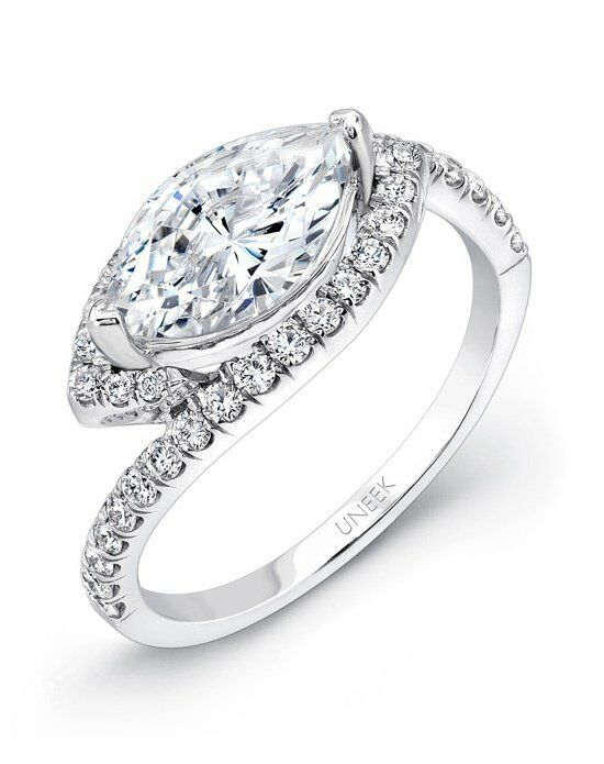 Uneek fine jewelry sws105 engagement ring the knot for Do jewelry stores finance engagement rings