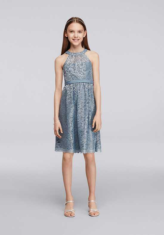 David's Bridal Junior Bridesmaids David's Bridal Style WJB0344 Halter Bridesmaid Dress