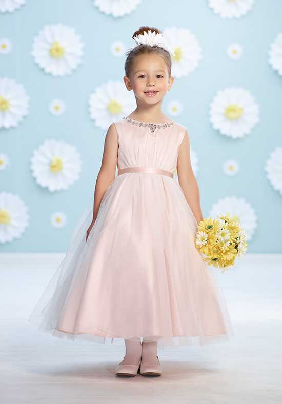 Joan Calabrese by Mon Cheri 116365 Pink Flower Girl Dress