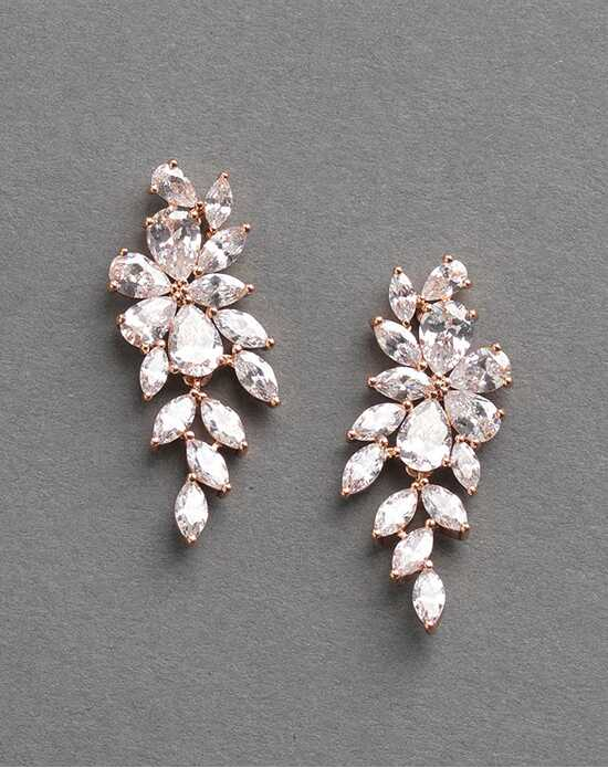 Dareth Colburn Vivian Rose Gold CZ Dangle Earrings Wedding Earring photo