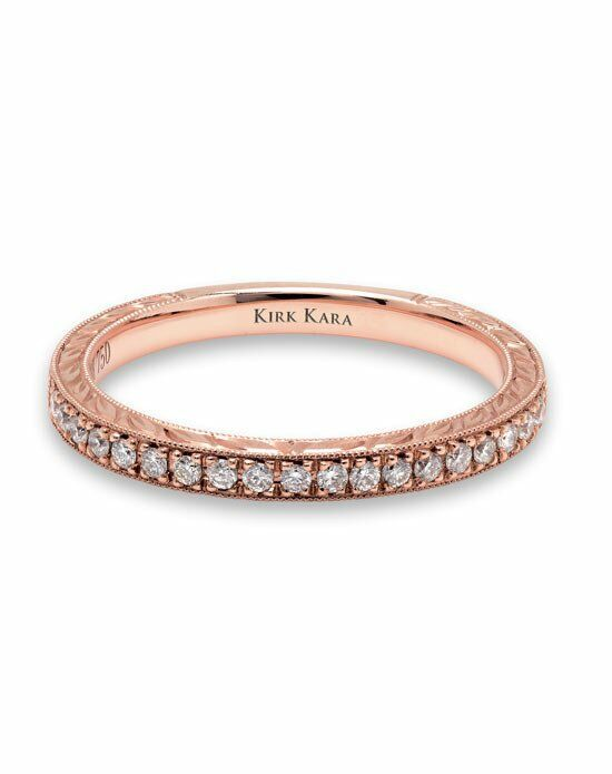 Kirk Kara Pirouetta Collection K1170DP-B Rose Gold Wedding Ring