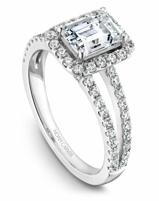 Noam Carver Elegant Emerald Cut Engagement Ring