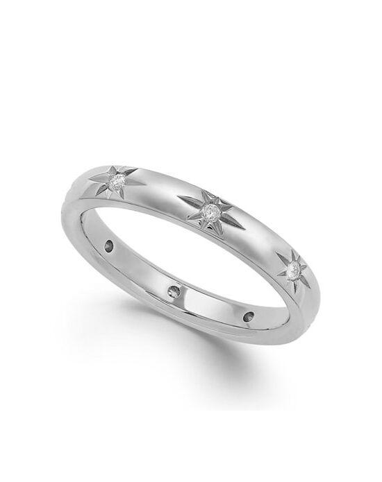 Macys Fine Jewelry Star by Diamond Star Wedding Band in 18k White