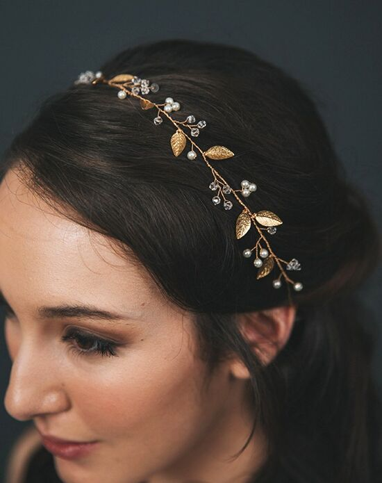 Davie & Chiyo | Hair Accessories & Veils Iverness Hair Vine Gold, Pink, Silver Headband