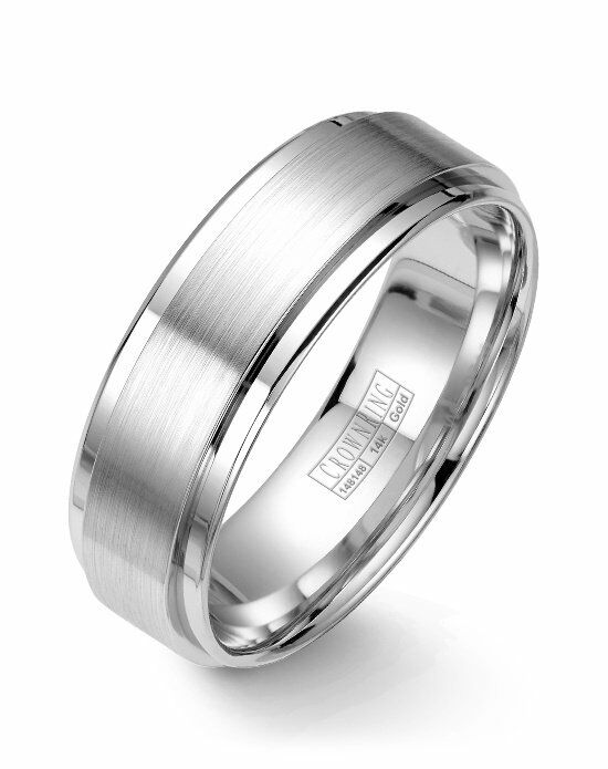 CrownRing WB-9710-M10 White Gold Wedding Ring