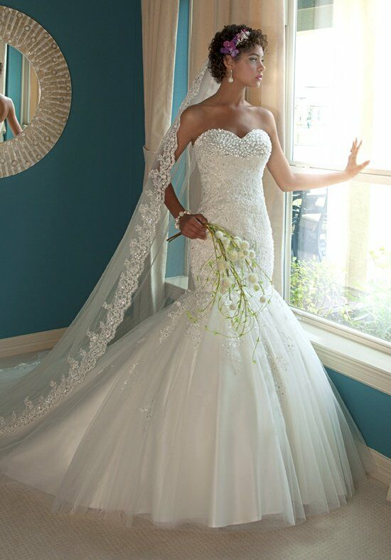 1 Wedding by Mary's Bridal 6207 Mermaid Wedding Dress