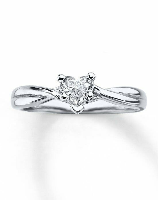 Kay Jewelers Diamond Solitaire Ring 3 8ct Heart Cut 14k