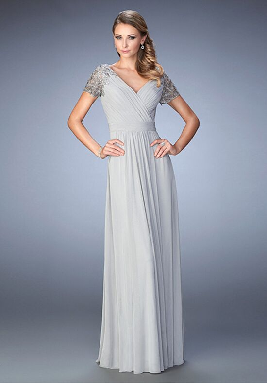 La Femme Evening 22474 Silver Mother Of The Bride Dress