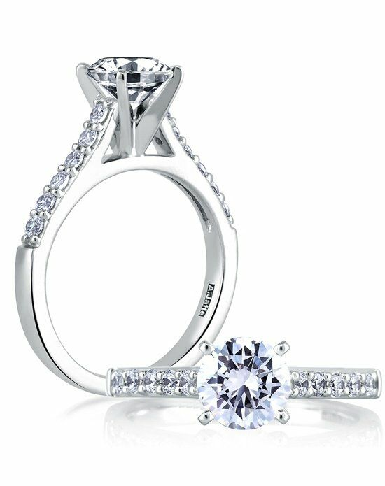 A.JAFFE Classic Round Cut Engagement Ring