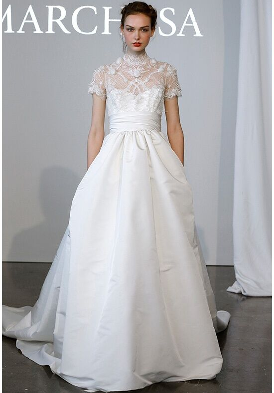 Marchesa b11818 wedding dress the knot for Marchesa wedding dress prices