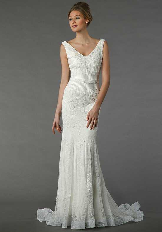 Tony Ward for Kleinfeld Lavande Sheath Wedding Dress