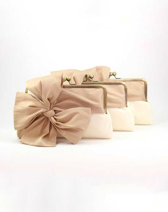 Davie & Chiyo | Clutch Collection Classic Box Clutch Set Ivory, Champagne Clutches + Handbag