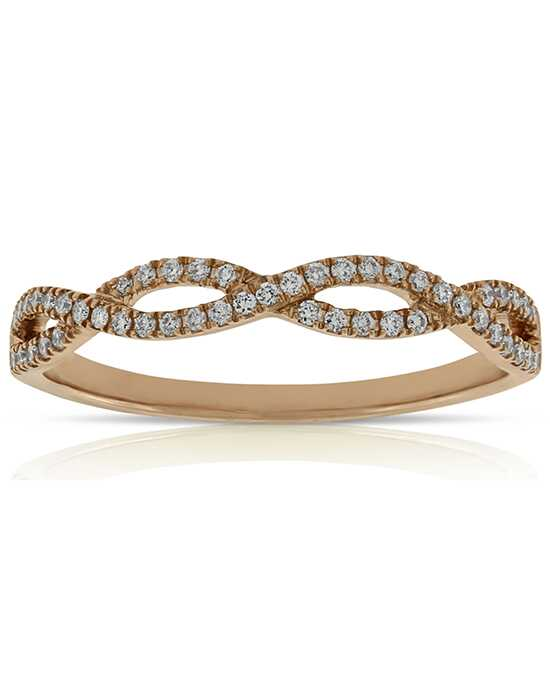 ben bridge jeweler rose gold braided diamond band - Rose Gold Wedding Ring
