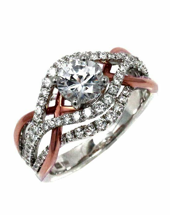 Frederic Sage RM150-PW Rose Gold, White Gold Wedding Ring
