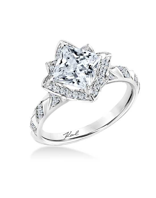 karl lagerfeld vintage princess cut engagement ring - Princess Cut Diamond Wedding Rings