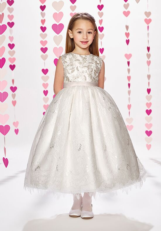 Joan Calabrese by Mon Cheri 217377 Ivory Flower Girl Dress