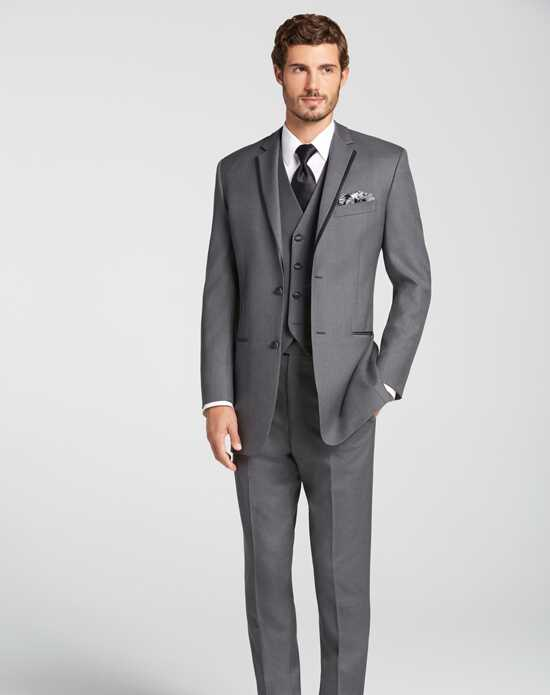 Men's Wearhouse BLACK by Vera Wang® Gray Tuxedo Gray Tuxedo