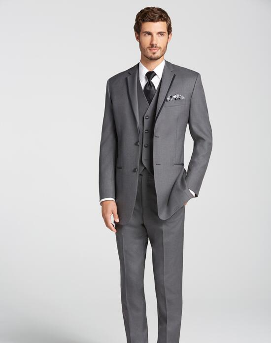 Men's Wearhouse BLACK by Vera Wang® Gray Tuxedo Wedding Tuxedos + Suit photo