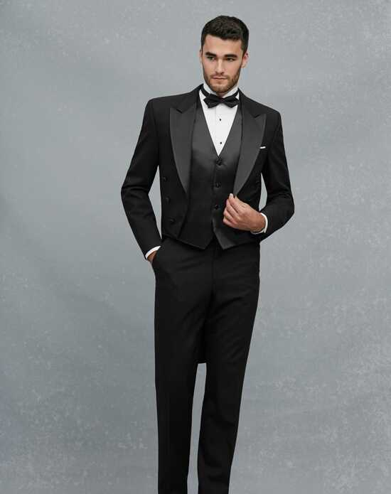 Jos A Bank Peak Lapel Dress Tails Tuxedo Black
