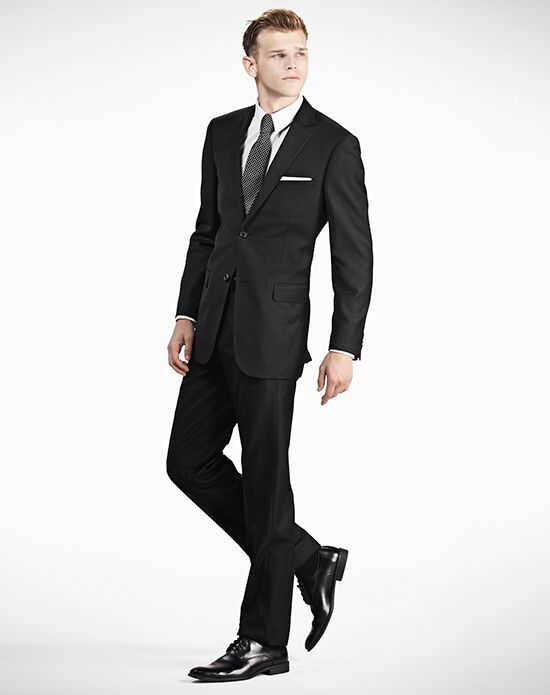 Generation Tux Notch Lapel Modern Fit Black Suit Wedding Tuxedo ...