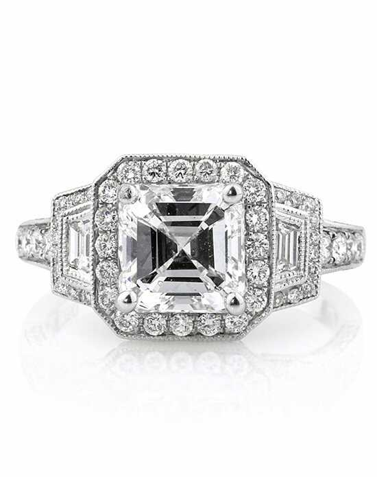 Mark Broumand Unique Asscher Cut Engagement Ring