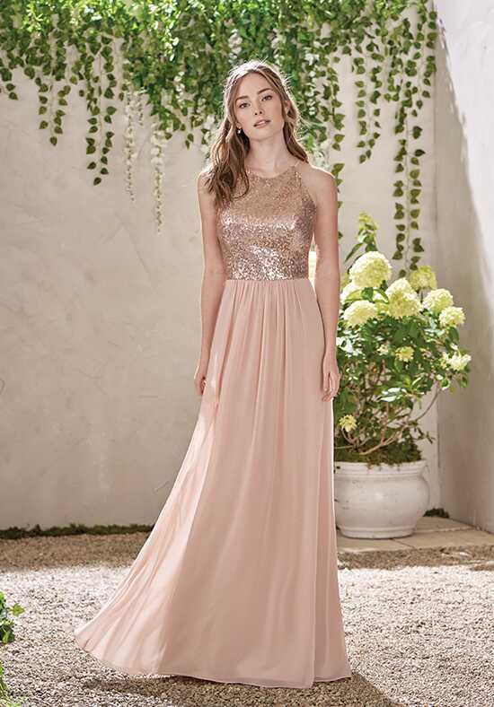 B2 by Jasmine B193007 Bateau Bridesmaid Dress