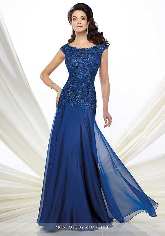 Montage by Mon Cheri 216962 Blue Mother Of The Bride Dress