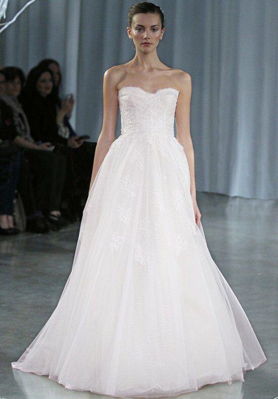 Monique lhuillier sunday rose wedding dress the knot for Monique lhullier wedding dress
