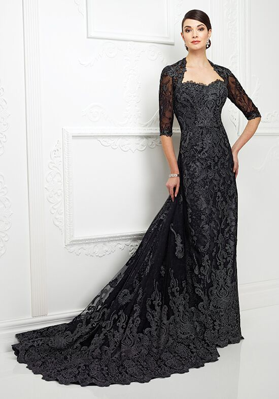 Ivonne D. 217D83 Black Mother Of The Bride Dress