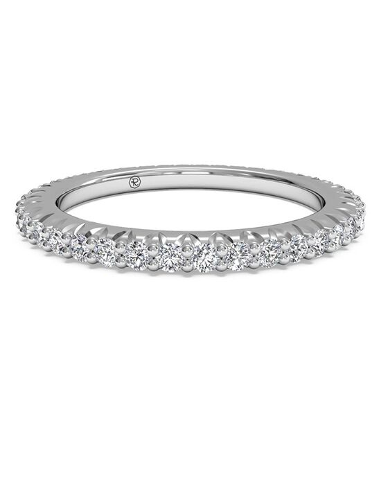 Ritani Women's Open Micropave Diamond Eternity Wedding Ring - in 14kt White Gold - (0.60 CTW) White Gold Wedding Ring
