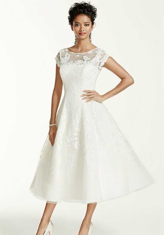 David's Bridal Oleg Cassini Style CMK513 A-Line Wedding Dress