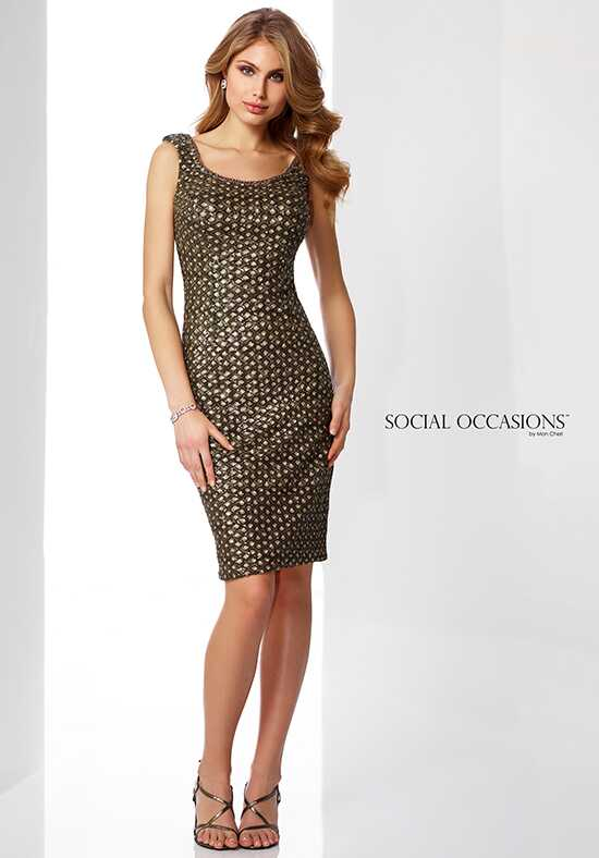 Social Occasions by Mon Cheri 217845 Brown Mother Of The Bride Dress