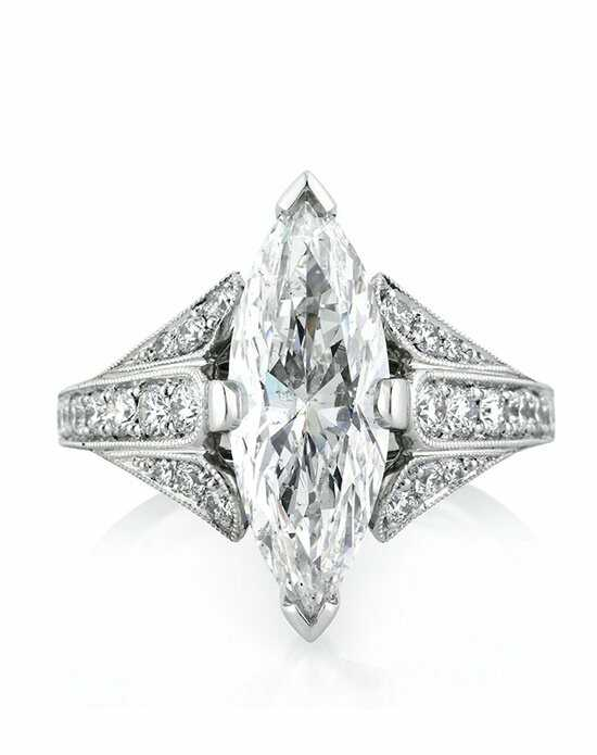 Mark Broumand 3.86ct Marquise Cut Diamond Engagement Ring Engagement Ring photo