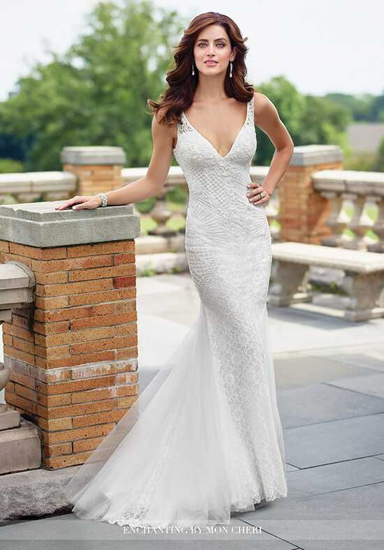 Enchanting by Mon Cheri 117196 Sheath Wedding Dress