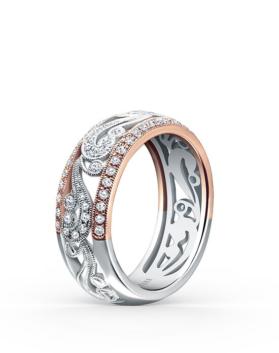 Kirk Kara Angelique Collection KF1010DP-B Rose Gold Wedding Ring