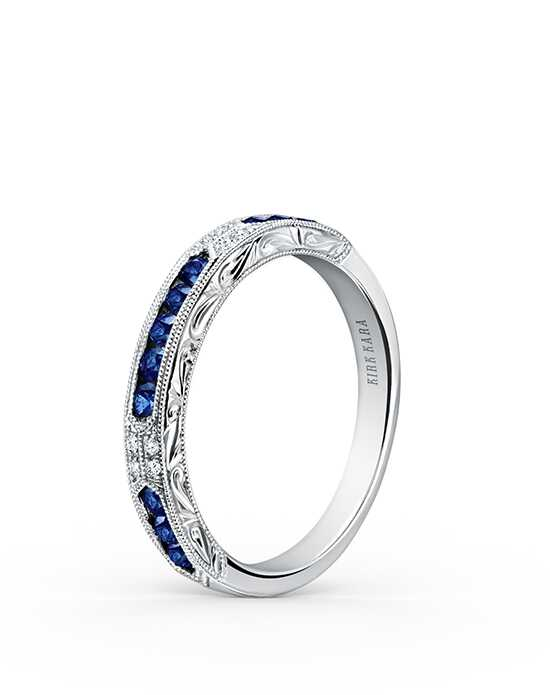Kirk Kara Charlotte Collection K1390SD-B White Gold Wedding Ring