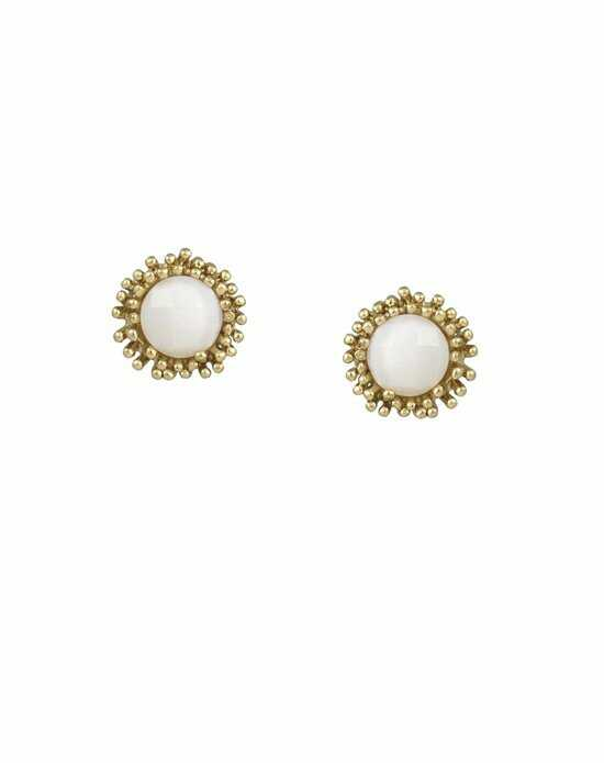 Kendra Scott Carly Stud Earrings in White Pearl Wedding Earring photo