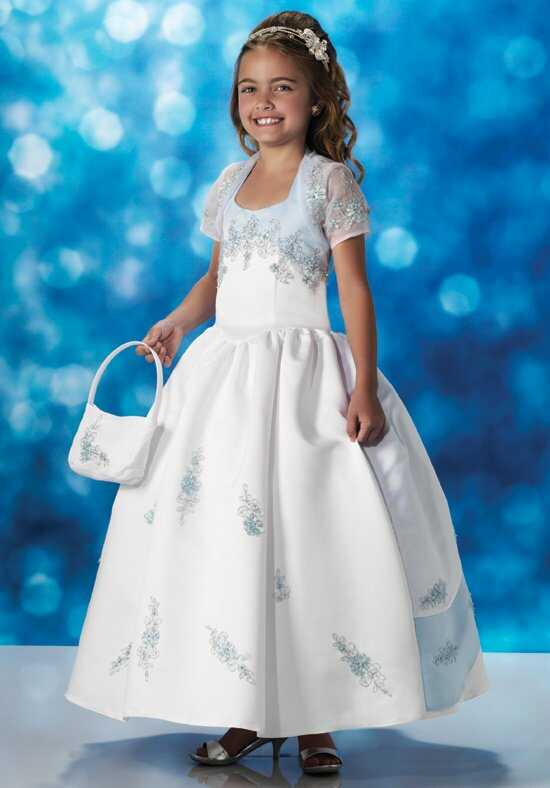 Cupids by Mary's F580 White Flower Girl Dress