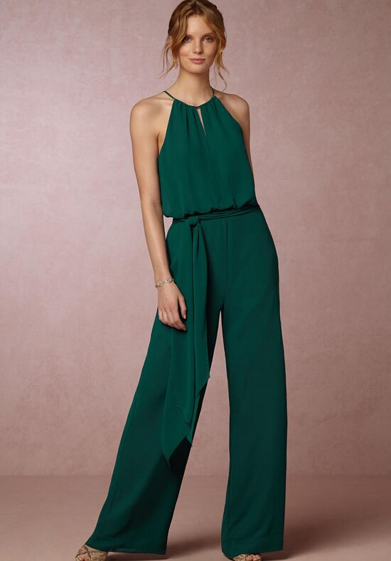 Bhldn bridesmaids jackie jumpsuit emerald bridesmaid - Jumpsuit hochzeit ...