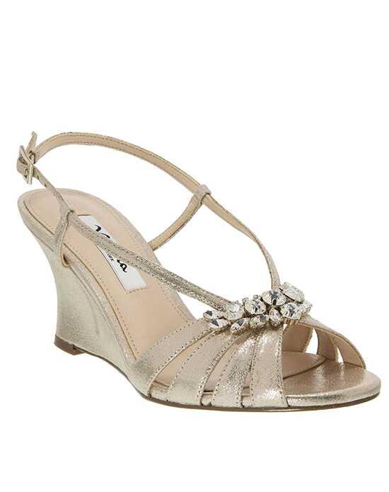 gold wedding shoes for bridesmaids. nina bridal wedding accessories gold shoes for bridesmaids