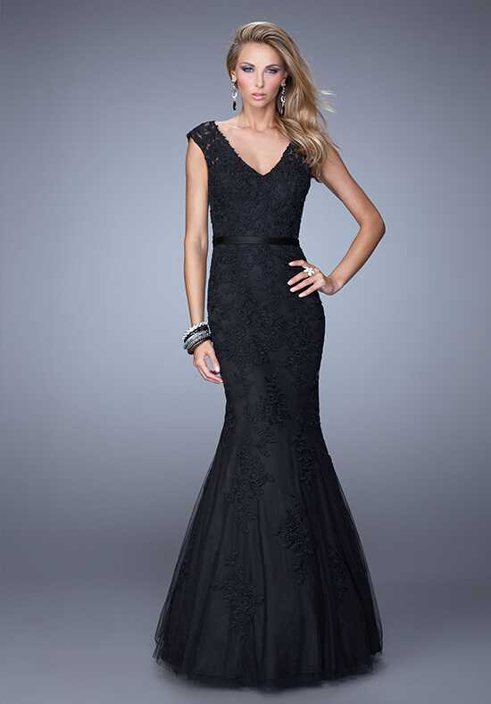 La Femme Evening 20918 Black Mother Of The Bride Dress