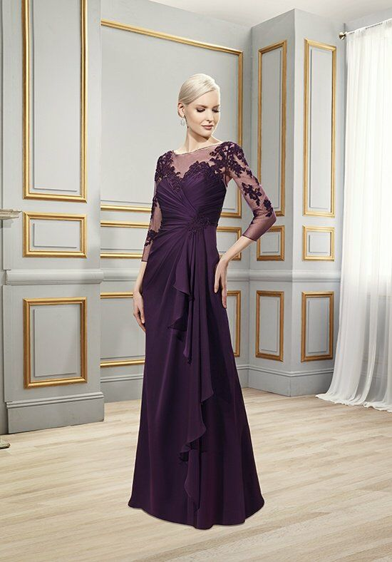 Val Stefani Celebrations MB7516 Purple Mother Of The Bride Dress