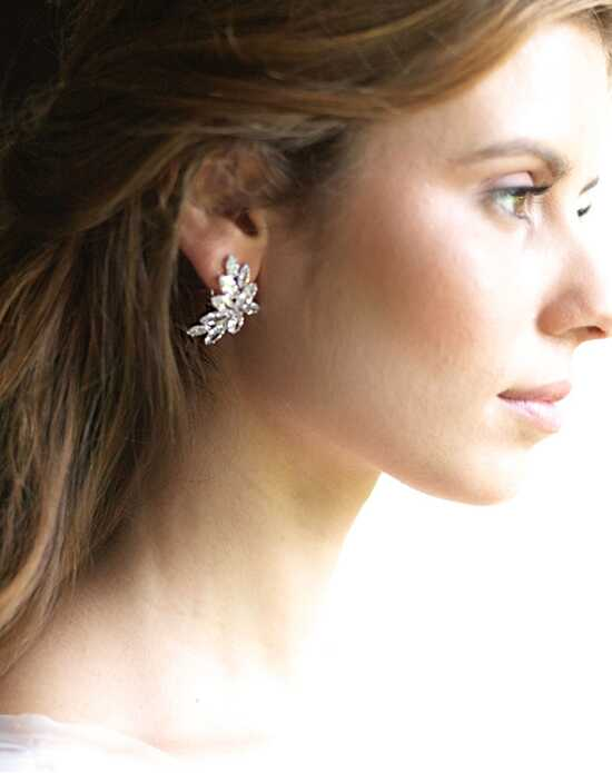 Dareth Colburn Farah Gold CZ Earrings Wedding Earring photo