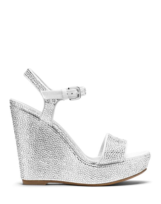 Stuart Weitzman Single Wedge Crystal Pave Crystals