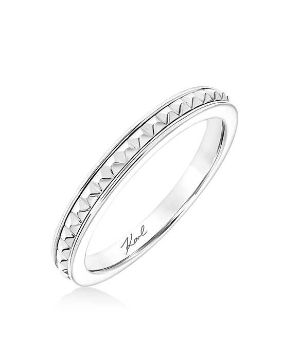 KARL LAGERFELD 31-KA136P Gold, White Gold, Platinum Wedding Ring