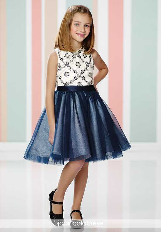Joan Calabrese by Mon Cheri 216317 Blue Flower Girl Dress