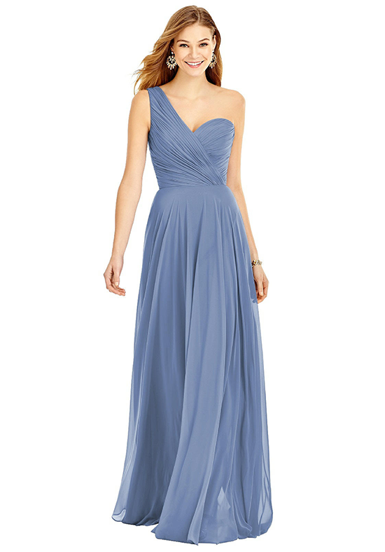 After Six 6751 One Shoulder Bridesmaid Dress