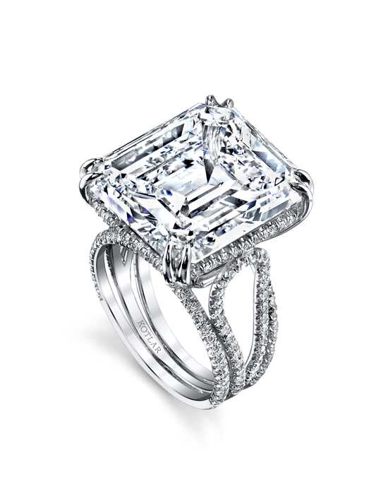 "Say ""Yes!"" in Platinum Glamorous Emerald Cut Engagement Ring"