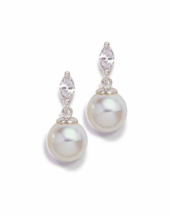 Anna Bellagio LENORA CUBIC ZIRCONIA AND PEARL EARRINGS Wedding Earring photo
