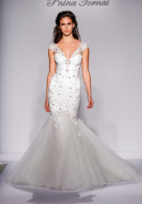 Pnina tornai for kleinfeld 4464 wedding dress the knot for Pnina tornai wedding dresses prices